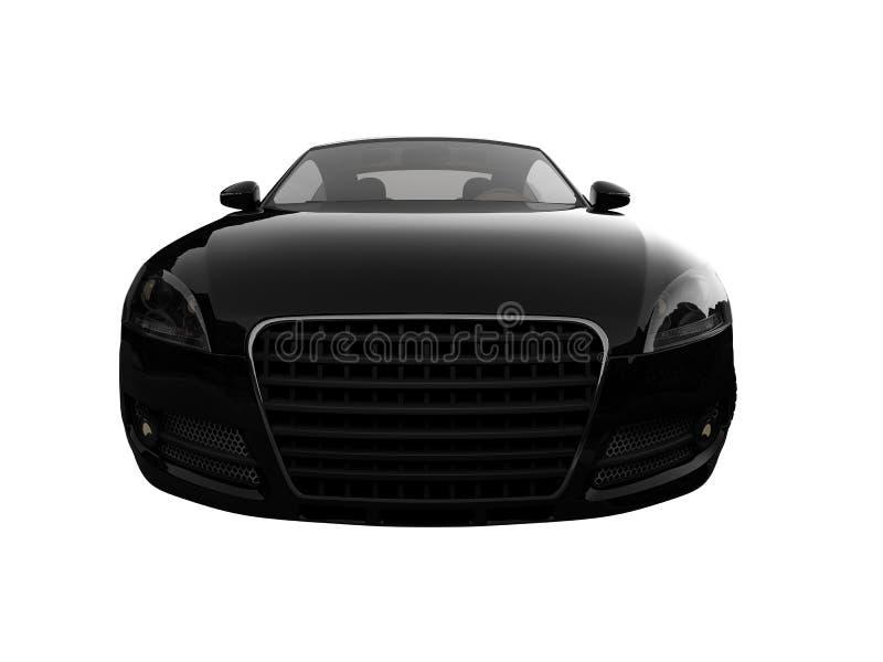 czarnego samochodu frontu pojedynczy widok ilustracji