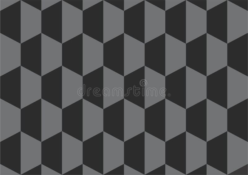 Czarnego sześcianu wektorowy tło, tapeta/ obrazy stock