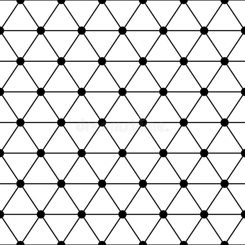 Czarnej białej trójbok kratownicy prosty bezszwowy wzór, wektor royalty ilustracja