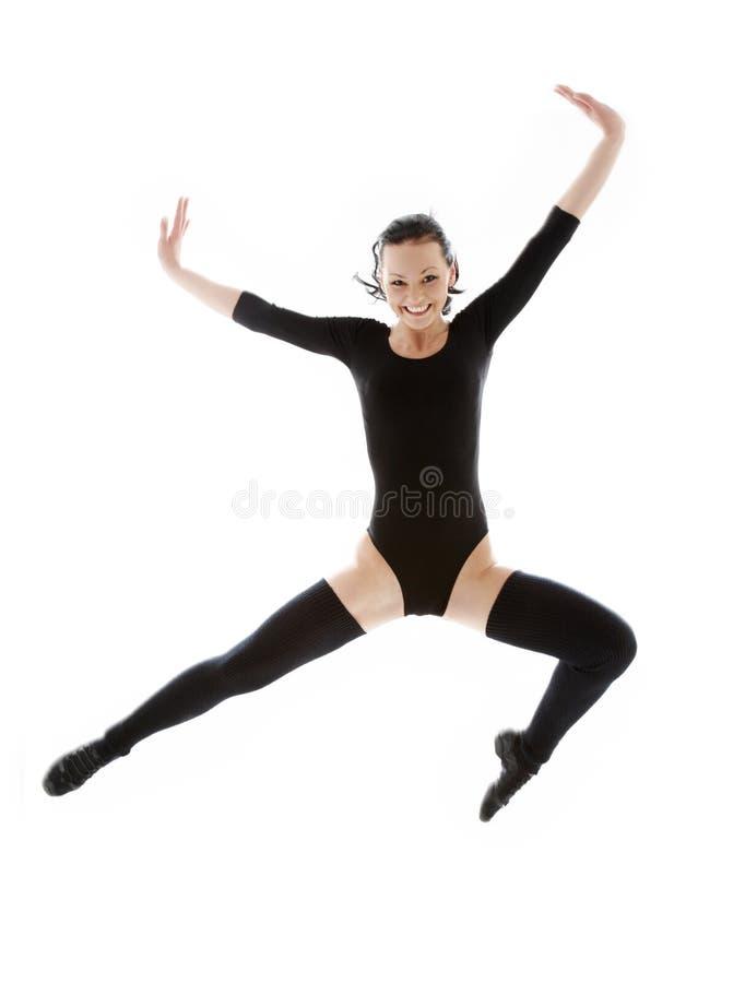 czarnej dziewczyny skokowy kostium zdjęcia royalty free