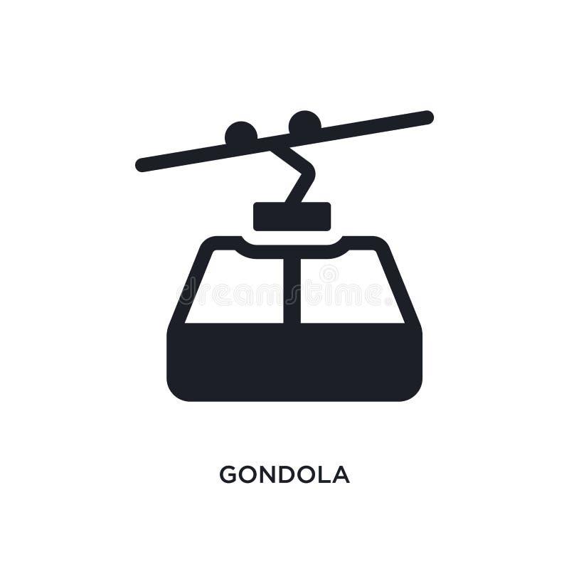 czarnej gondoli odosobniona wektorowa ikona prosta element ilustracja od transportu pojęcia wektoru ikon gondola editable logo ilustracja wektor