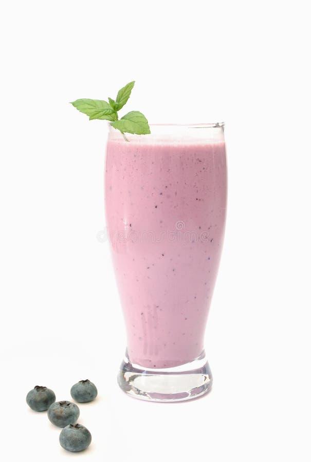 czarnej jagody smoothie obrazy stock