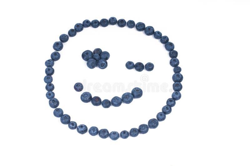 czarnej jagody twarzy smiley zdjęcia stock