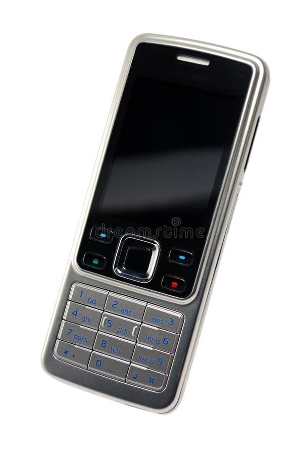 czarnej komórki ścieżki klasyczne pojedynczy srebro telefonu fotografia royalty free