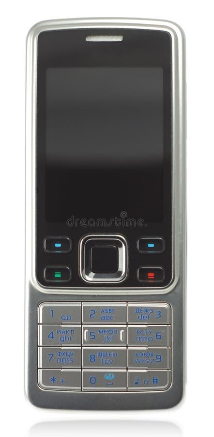 czarnej komórki telefonu klasyczny srebra obraz stock