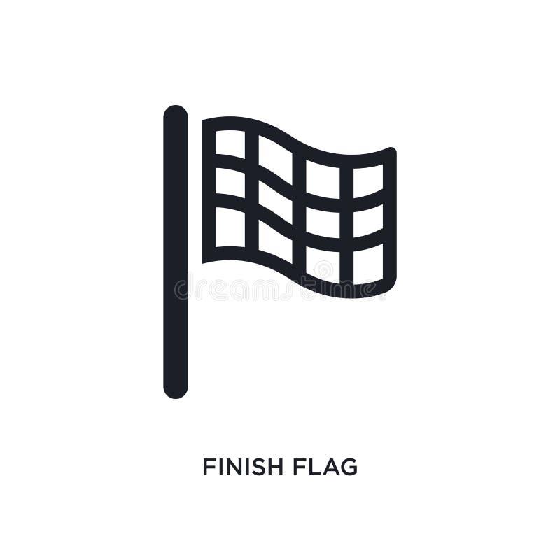 czarnej koniec flagi odosobniona wektorowa ikona prosta element ilustracja od pocz?tkowych stategy i poj?cia wektoru ikon Koniec  ilustracji