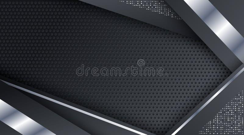 Czarnej Kruszcowej Srebnej technologii tła Korporacyjny szablon ilustracja wektor