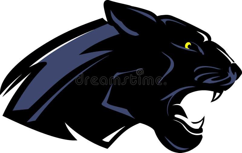Czarnej pantery Boczny widok ilustracja wektor