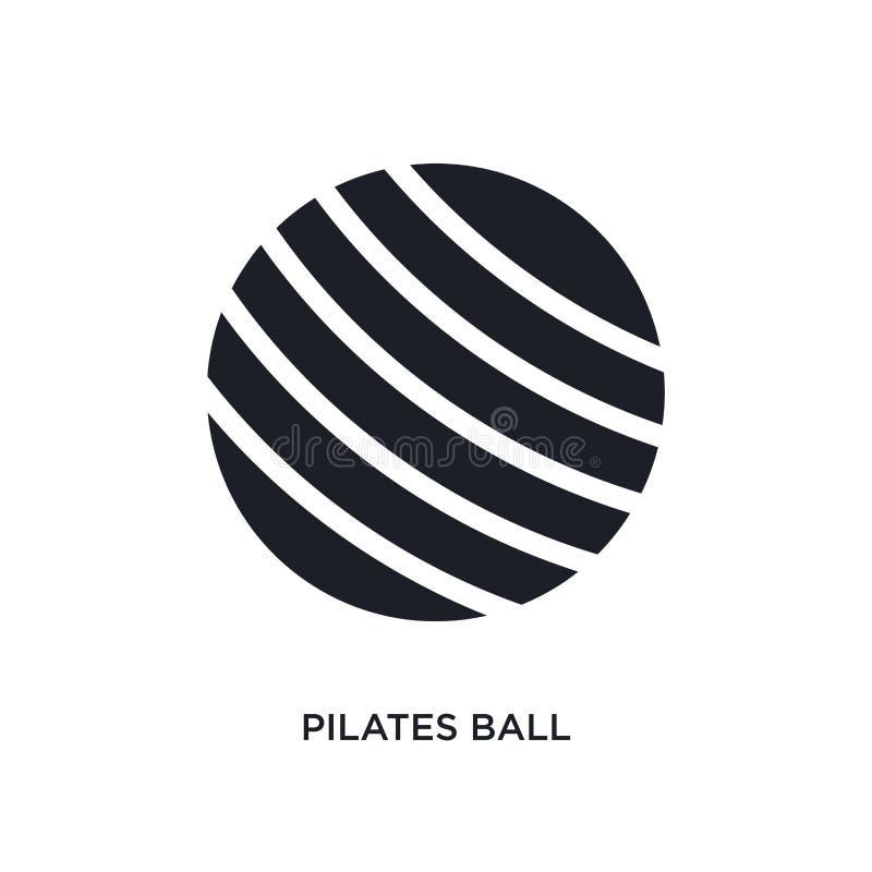 czarnej pilates piłki odosobniona wektorowa ikona prosta element ilustracja od gym i sprawno?ci fizycznej poj?cia wektoru ikon pi ilustracji