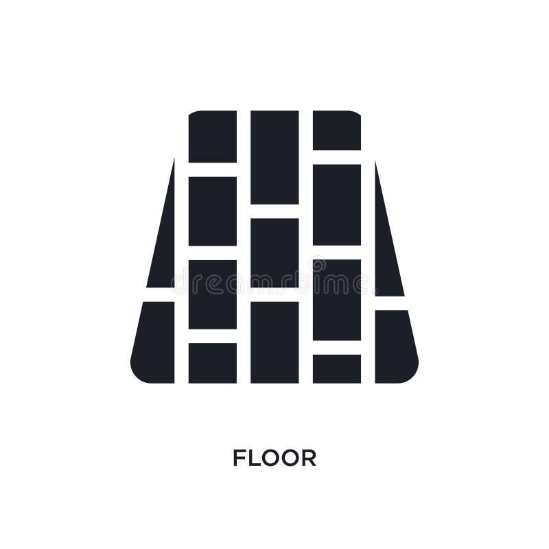 czarnej podłogi odosobniona wektorowa ikona prosta element ilustracja od meble & gospodarstwa domowego pojęcia wektoru ikon podło ilustracja wektor