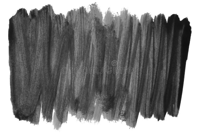 Czarnej ręki malujący lampasy na białym tle ilustracji