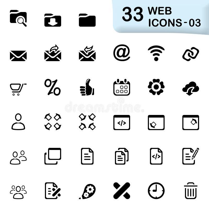 33 czarnej sieci ikony 03 obrazy stock