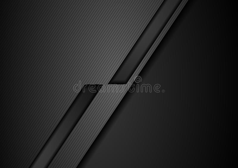 Czarnej techniki geometryczny korporacyjny tło royalty ilustracja