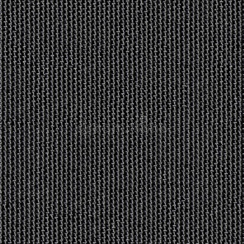 Czarnej tkaniny bezszwowa tekstura Tekstury mapa dla 3d i 2d obraz stock