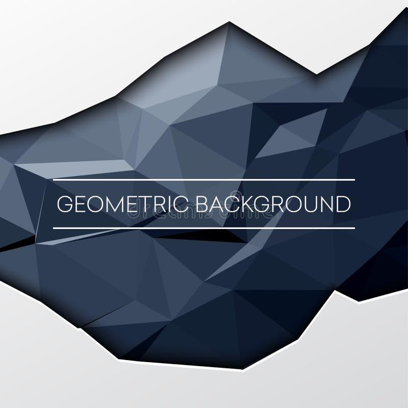 Czarni abstrakcjonistyczny niski poli-, poligonalni trójgraniasty mozaiki tło dla sieci, prezentacje i druki, również zwrócić cor royalty ilustracja