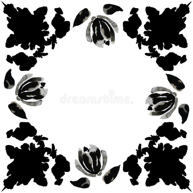 Czarni atramentów kleksy 2 zdjęcie stock