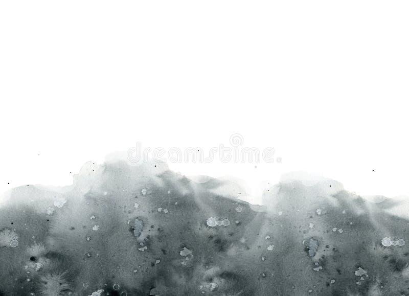 Czarni biali szarzy abstrakcjonistyczni plama kleksy zaplamiają tło zdjęcie royalty free