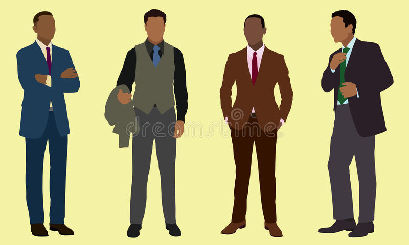 Czarni biznesmeni royalty ilustracja