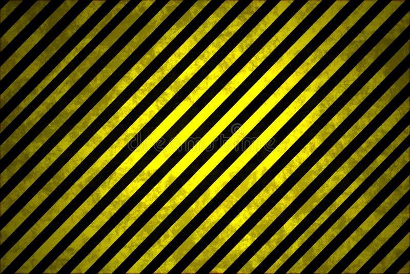Czarni i Żółci ostrzeżenie lampasy ilustracji