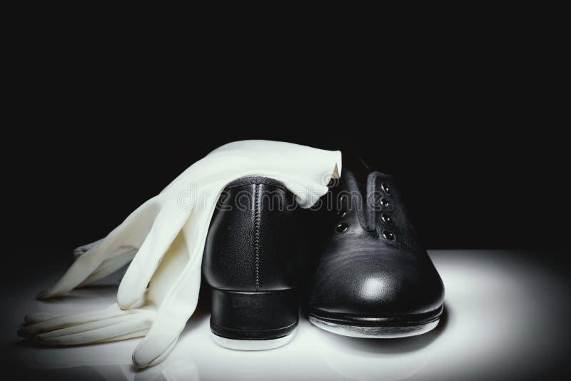 Czarni klepnięcie buty zdjęcia royalty free