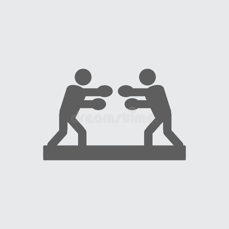 Czarni płascy boksery, bokserska stażowa wektorowa ikona royalty ilustracja