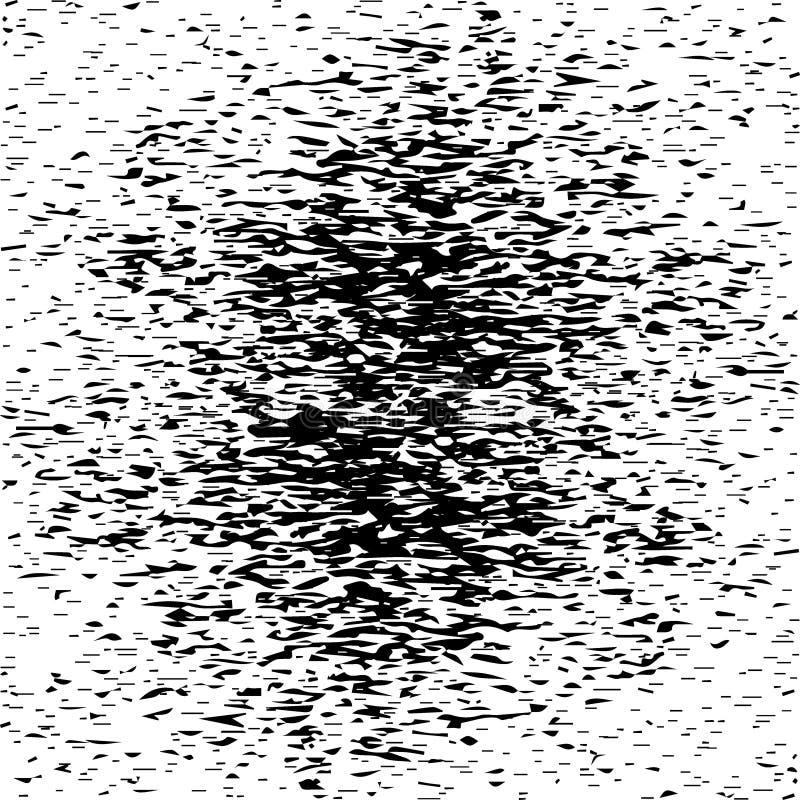 Czarni punkty i pluśnięcia tło royalty ilustracja