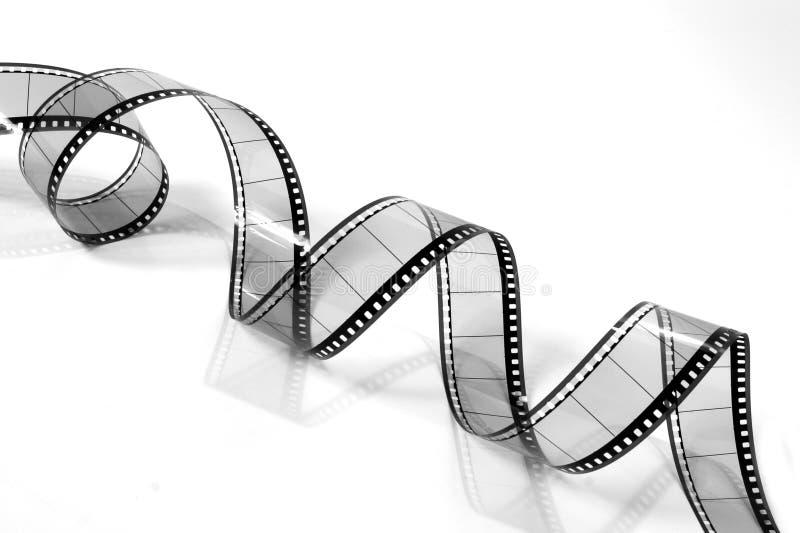 czarno 3 filmie white pokręcony film zdjęcie stock