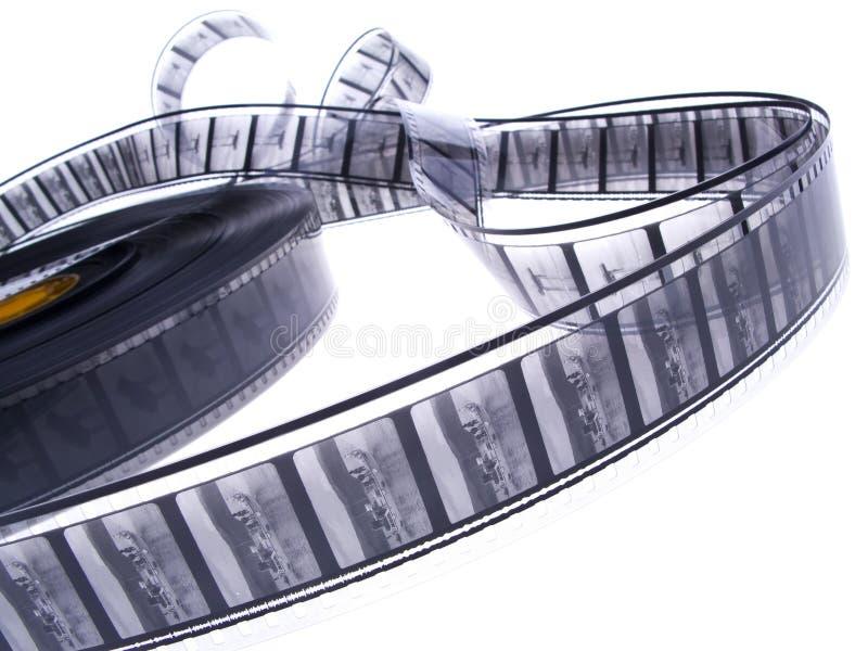 czarno 35 mm ree film white zdjęcia stock