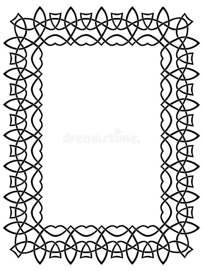 czarno 7 celtic graniczny ilustracja wektor