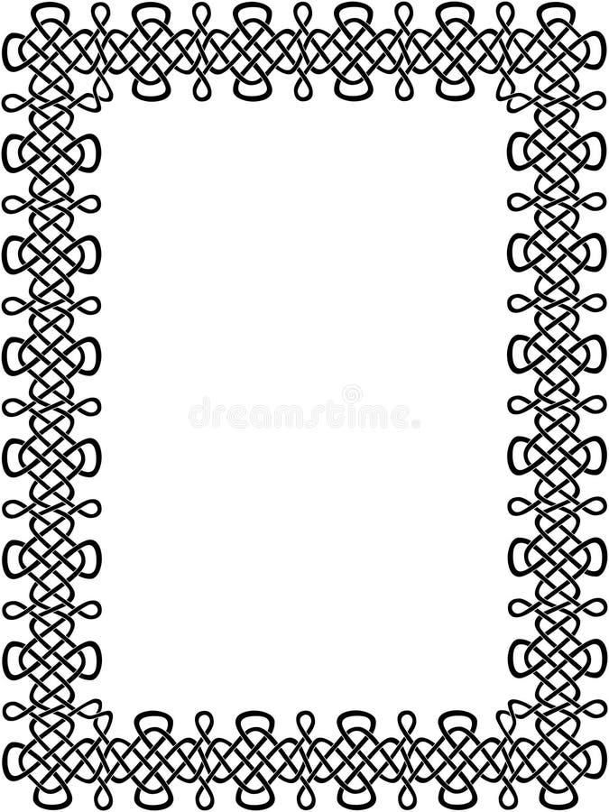 czarno 8 celtic graniczny ilustracja wektor