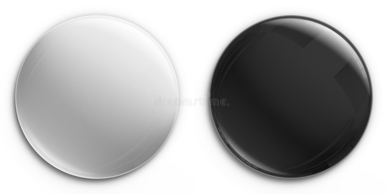 czarno białe odznaki pusty royalty ilustracja