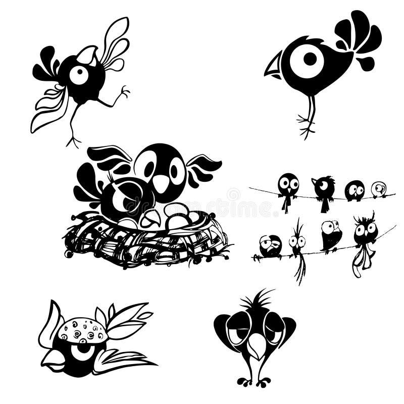 Download Czarno Biały Dekoracyjny Ptak Ilustracja Wektor - Ilustracja złożonej z dekoracyjny, siedzi: 28956709
