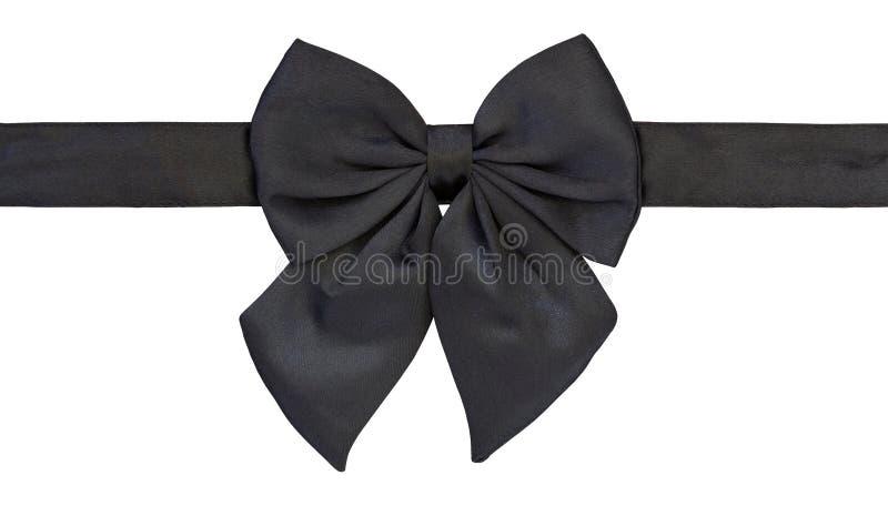 czarny łęk odizolowywający krawata biel obrazy royalty free