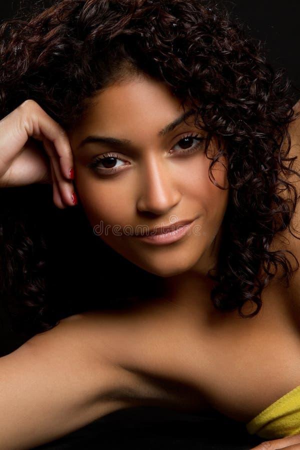czarny ładna kobieta obrazy stock