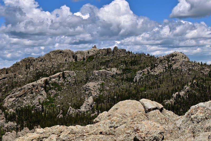 Czarny łosia szczyt w Czarnych wzgórzach fotografia stock