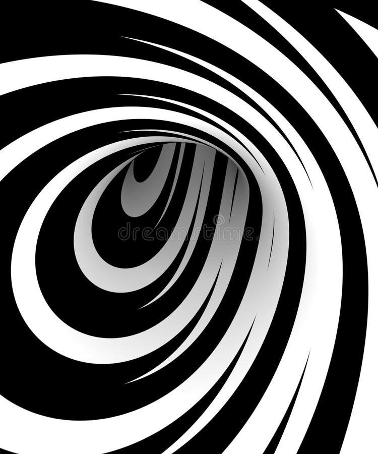 czarny ślimakowaty biel royalty ilustracja