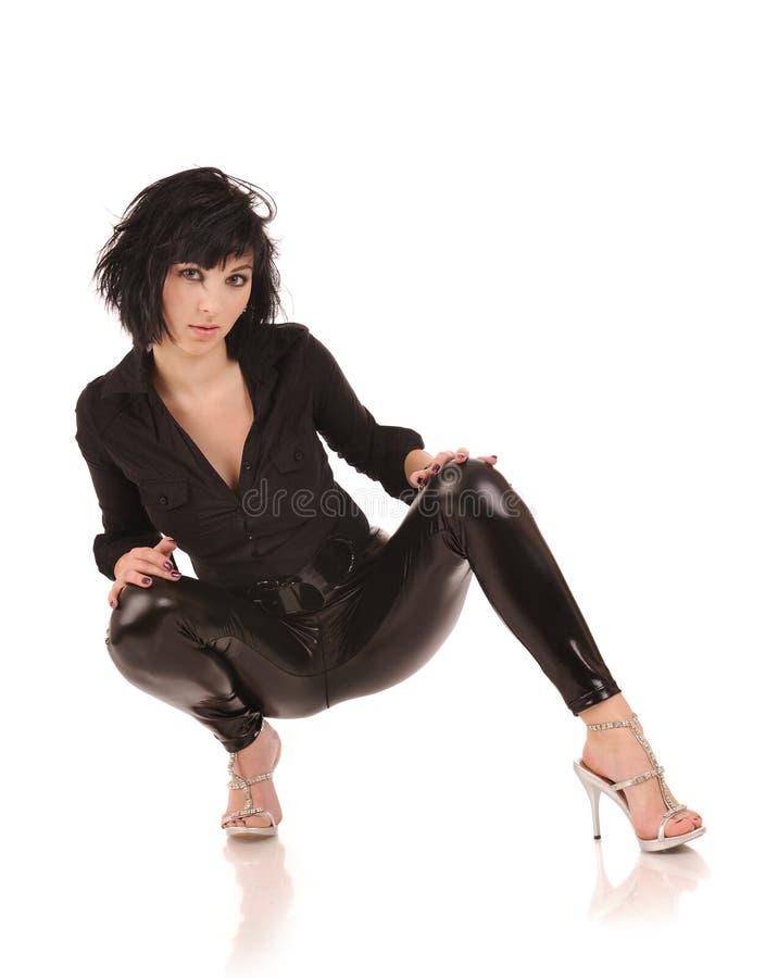 czarny żeńscy leggings zdjęcia royalty free