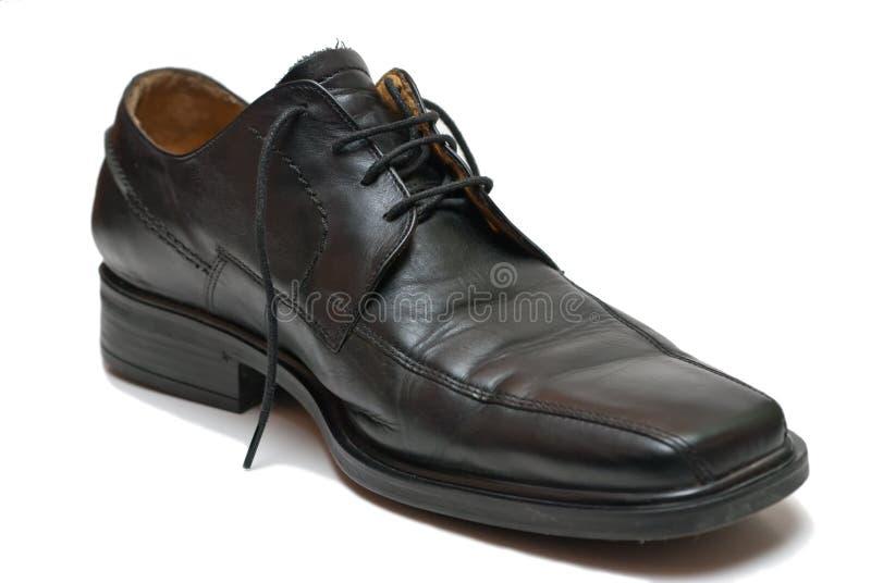 czarny but obraz stock