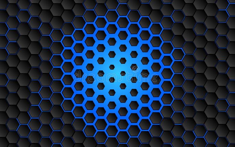 Czarny abstrakcjonistyczny cyfrowy techniki pojęcia tło cześć ilustracja wektor