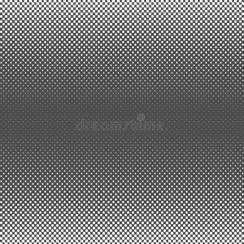 Czarny Abstrakcjonistyczny Halftone kwadrata kropki tło, wektorowa ilustracja royalty ilustracja