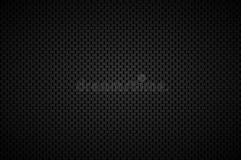 Czarny abstrakcjonistyczny tło z czarnymi prostokątami i siwieje ramy ilustracja wektor