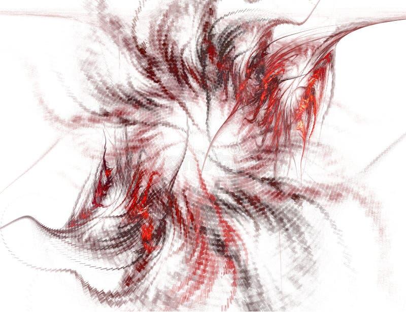 czarny abstrakcyjne czerwono spirali white ilustracji