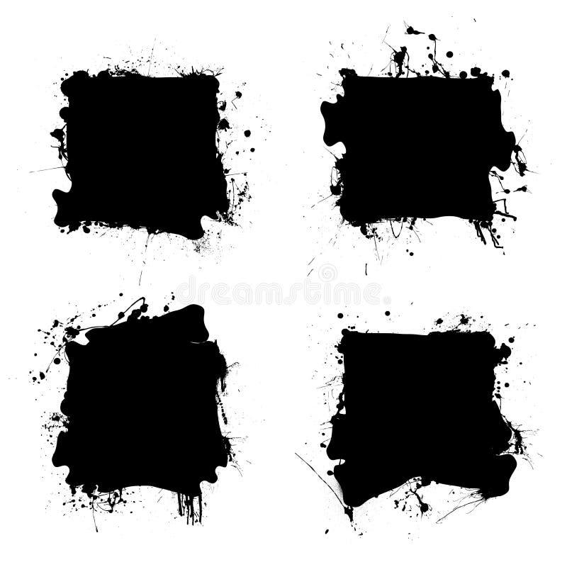 czarny atramentu splat kwadrat ilustracji