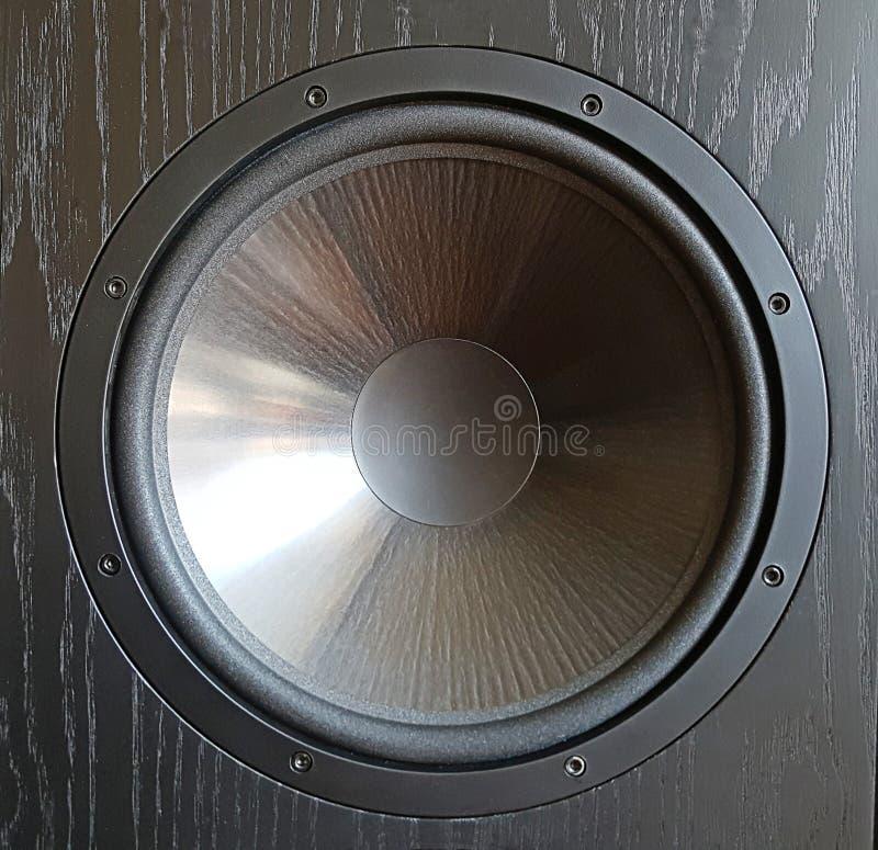 Czarny audio mówca, rozsądny wyposażenie z bliska fotografia royalty free