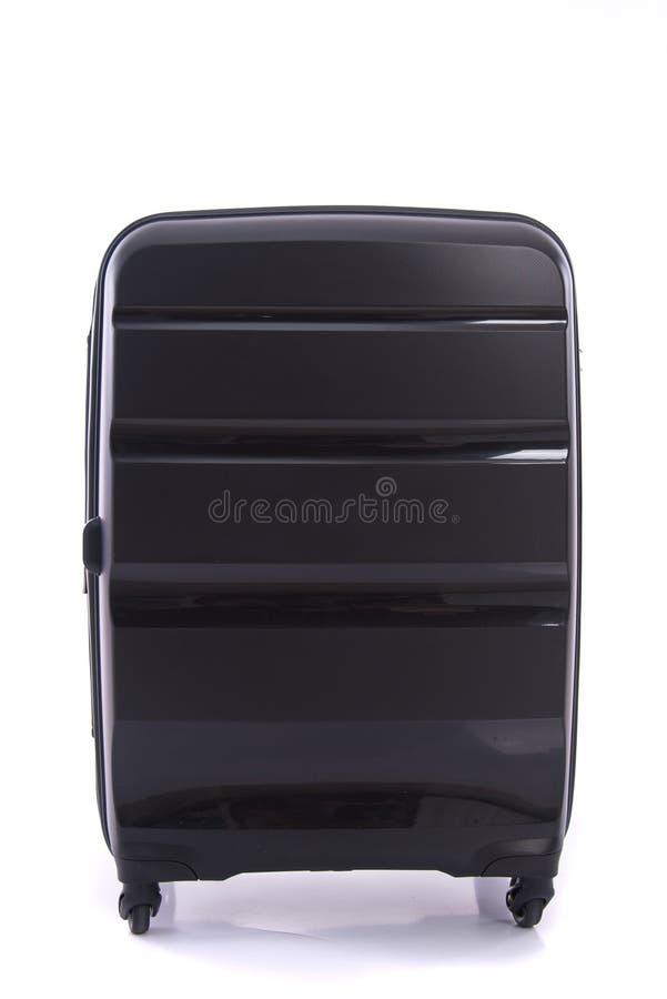 Czarny bagaż odizolowywający obraz royalty free