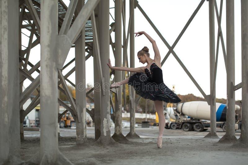 czarny baleriny spódniczka baletnicy zdjęcie royalty free