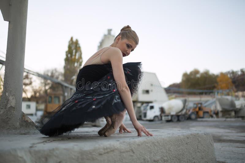 czarny baleriny spódniczka baletnicy fotografia stock