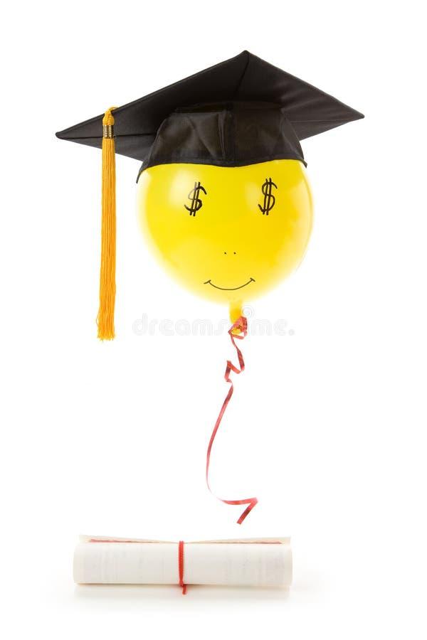czarny balonowy mortarboard obraz stock