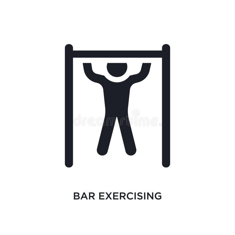 czarny bar ćwiczy odosobnioną wektorową ikonę prosta element ilustracja od gym i sprawności fizycznej pojęcia wektoru ikon prętow ilustracji