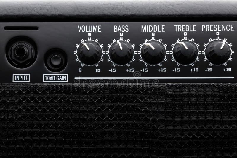 Czarny Basowej gitary amplifikator zdjęcie stock